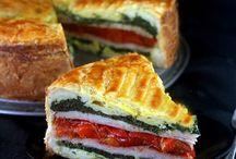 Torte ham cheese egg spinach capa