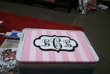 {cooler painting} / A southern sorority staple. / by Kate Withers