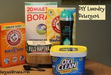 Homemade Household Cleaners / Making your own homemade household cleaners can save you money and be better for your health!