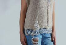Raw tricot knitwear design / Romanian knitwear designer