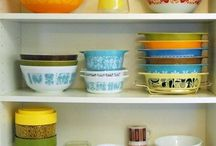 Vintage Glass / Pyrex,Jadeite, Milkglass, FireKing...etc / by Angie