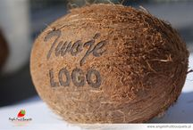Fruit with Logo / Laser engraving on fruits.  Owoce z logo.