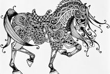 Zentangle Art / Pen and ink artworks done in the Zentangle style.