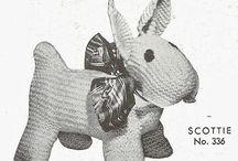 Strikket Knitted dyr animals  / Strikket dyr Knitted animals