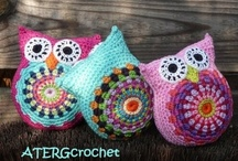 Crochet owls...my obsession ♥