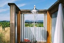 outdoor showers / by Lisa Bowser