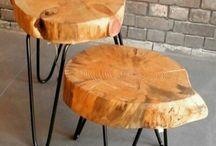 demir puf sandalye masa