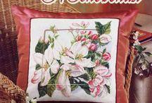 Haft kwiat jabłoni