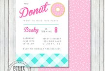 Donut Birthday or Shower