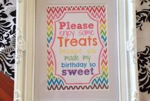 Candy Buffet / Ideas for candy buffet. Signs, set up, colors etc