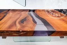 Ahşap-Cam masalar