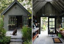 outside: sheds
