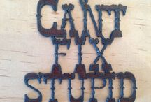 Funny Signs / A collection of funny rustic metal signs