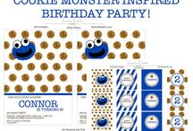 Modern Cookie Monster Birthday Party!