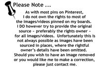 Pinterest Disclaimer / by Cathy Cole