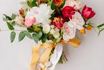Floral ideas / Shades of Cranberry ivory gold green