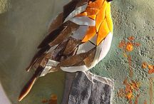 Oiseaux en mosaiques