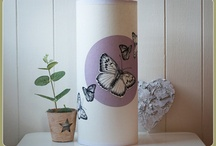 Ikea lamps / Each Lamp contains one of my hand drawn Illustrations