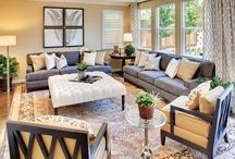 gray living room / by Dawn Heckathorn