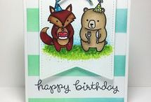 Cards - Lawn Fawn Party Animals