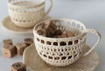 Tazzine caffè uncinetto