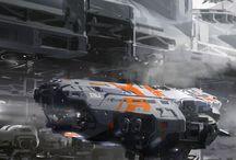 Concept Art. Spaceship