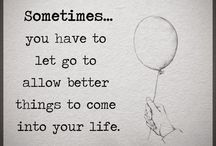 letting go . . .