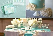 Tiffany Blue Wedding Theme / by Li'l Inspirations - Personalized Wedding Handkerchiefs, Blankets and One of Kind Baptism Gifts Custom Embroidered