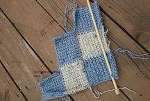 Sepet tığ ile battaniye