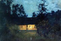 Isaac Levitan / (30 de agosto de 1860, Kybartai, Lituânia - 4 de agosto de 1900, Moscou, Rússia) Isaak Ilich Levitan foi um pintor russo de origem judaica, que pertenceu ao movimento dos Itinerantes.Expressou nas suas paisagens a beleza da região do Volga.