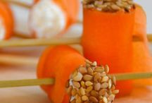 roulés de carotte ricotta
