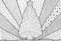 Kleuren voor volwassen (kerst)