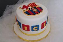 Tarta Barça / Tarta decorada con fondant Barça
