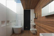 Дерево в ванной комнате / На этой доске мы выкладываем наши интерьеры ванных комнат и другие интересные идеи ванных в современном стиле, в которых использовалось дерево или материалы под дерево.