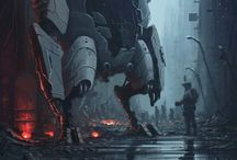 Heavy Armor mech and knight