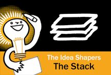 The Idea Shapers: The Stack / In her 2016 book The Idea Shapers, Brandy Agerbeck makes visual thinking attainable and enjoyable through a set of 24 Idea Shapers. The Stack is the third visual thinking concept in the first step, CHUNK.