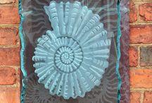 sandblasted glass