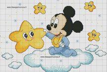 Punto croce Disney Topolino