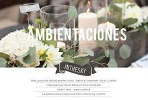Ambientaciones Inthesky / Tenemos todo lo que necesitas para ambientar tu fiesta. Fanales, macetas de concreto, suculentas, centros de mesa, carteles, guirnaldas y todo eso que queres.  www.inthesky.com.ar