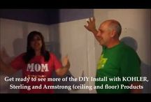 Dana's Favorite Bathroom Fixtures / Kohler, Armstrong, Floors, Ceilings, Vanities, Mirrors, Sconces, Lighting, Sinks, Showers, Tubs, Shower Doors, Faucets,