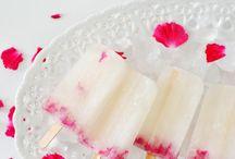 Pink champagne desserts