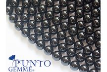 Black Agate, round, smooth  / Our Black Agate - Gemmopoli.com