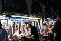 Athens, exploring Varvakios Market / Open food market in Athens city