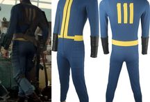 Fallout 4 costumes / Video Game Fallout 4 Sole Survivor Nate cosplay costume Jumpsuit