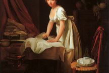 18thC Laundry / 18th and 19thC portraits and prints of laundry
