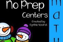 No Prep / No Prep Math and Literacy Centers
