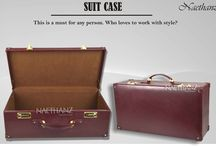"leather suitcase by naethanz / Model no.  CHG040 (A) Color	Brown Type	Suit case  Size	21"" X 11"" X 7"" Leather	100% Genuine Cow Printed Dry Milled Leather  AFFAIR	Casual    This is a must for any person. Who loves to work with style. Additional features •	Have firm handle drop •	Nicely matched with golden buckles •	Good quality inner lining •	Good structure; so everything inside will be safe •	Available in any pantone shades •	Looks classy and vintage"