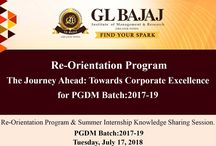 Re-Orientation Program and Summer Internship Knowledge Sharing Session on Tuesday, July 17, 2018 for PGDM Batch (2017 - 19).