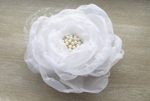 satin chiffon floral hair accessories comb bracelet flowers pearls organza wedding sashes belts