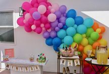 Rainbow Party / kid's 1st birthday party